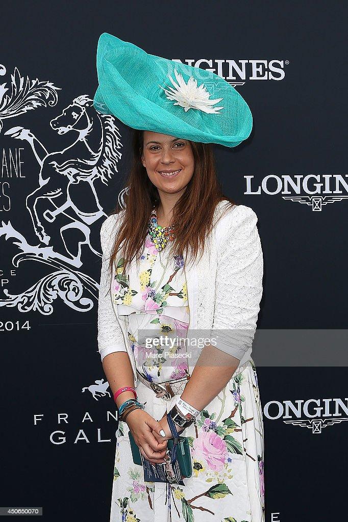 Marion Bartoli attends the 'Prix de Diane Longines 2014' at Hippodrome de Chantilly on June 15 2014 in Chantilly France
