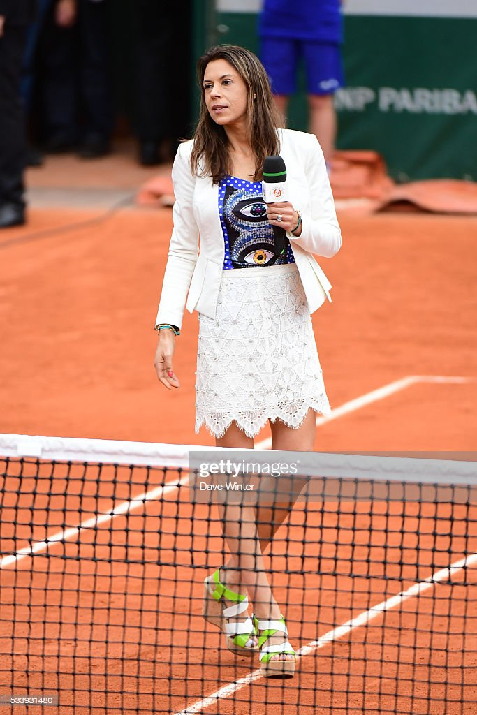 Marion Bartoli during the Women's Singles first round on day three of the French Open 2016 at Roland Garros on May 24, 2016 in Paris, France.