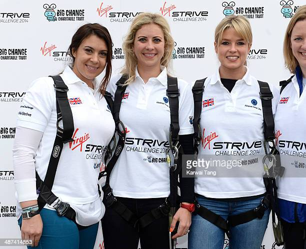 Marion Bartoli Holly Branson and Isabella Calthorpe attend a photocall to launch the Virgin STRIVE Challenge held at the 02 Arena on April 30 2014 in...