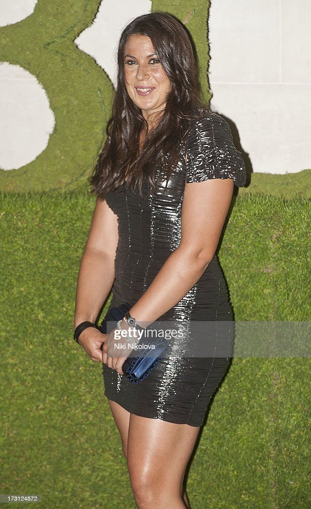 Marion Bartoli sighting at the InterContinental Park Lane Hotel on July 7, 2013 in London, England.