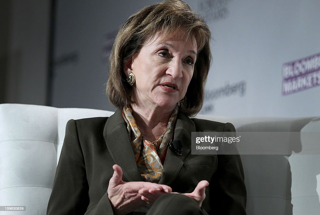 Marion Blakey, president and chief executive officer of Aerospace Industries Association (AIA), speaks at the Bloomberg Global Markets Summit in New York, U.S., on Thursday, Jan. 17, 2013. The Bloomberg Global Markets Summit, co-hosted by Foreign Affairs Magazine and Bloomberg LINK, convenes market makers and market movers as investors map their strategy for the year ahead. Photographer: Jin Lee/Bloomberg via Getty Images