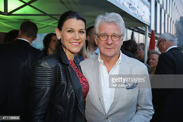 Marion Brigitta Kiechle and her husband Marcel Reif attend the party of Katja Burkard who celebrates her 50th Birthday at VintageRestaurant on April...
