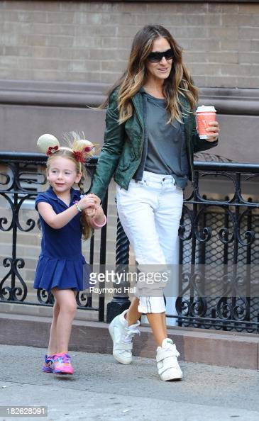 Marion Broderick and actress Sarah Jessica Parker sighting in Sohoon October 1 2013 in New York City