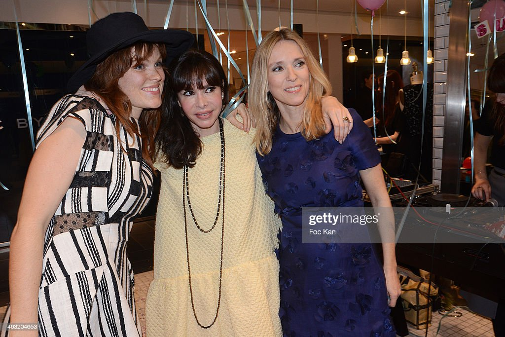 Marion Corrales Frederique Lopez and Lea Drucker attend the 'Spring Session 2 Party' At Printemps Haussmann on January 16 2014 in Paris France
