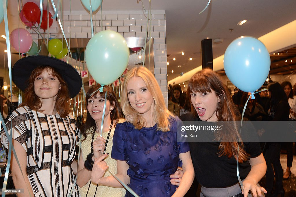 Marion Corrales Frederique Lopez Lea Drucker and Cecile Togni attend the 'Spring Session 2 Party' At Printemps Haussmann on January 16 2014 in Paris...