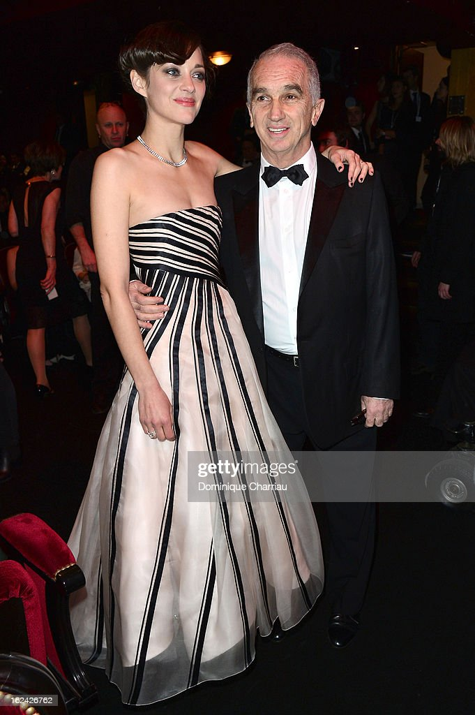 Marion Cotillard and Alain Terzian attend the Cesar Film Awards 2013 at Theatre du Chatelet on February 22, 2013 in Paris, France.