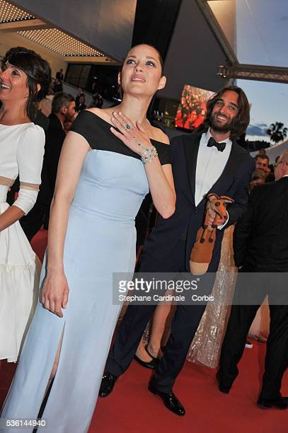Marion Cotillard and Dimitri Rassam attends the Premiere of 'The little Prince' during the 68th annual Cannes Film Festival on May 22 2015