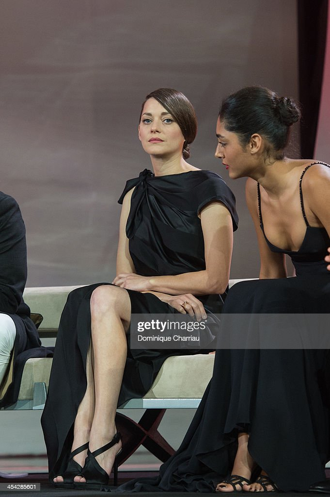 <a gi-track='captionPersonalityLinkClicked' href=/galleries/search?phrase=Marion+Cotillard&family=editorial&specificpeople=215303 ng-click='$event.stopPropagation()'>Marion Cotillard</a> and <a gi-track='captionPersonalityLinkClicked' href=/galleries/search?phrase=Golshifteh+Farahani&family=editorial&specificpeople=5535488 ng-click='$event.stopPropagation()'>Golshifteh Farahani</a> attend the award Ceremony 2013' At 13th Marrakech International Film Festival on December 7, 2013 in Marrakech, Morocco.