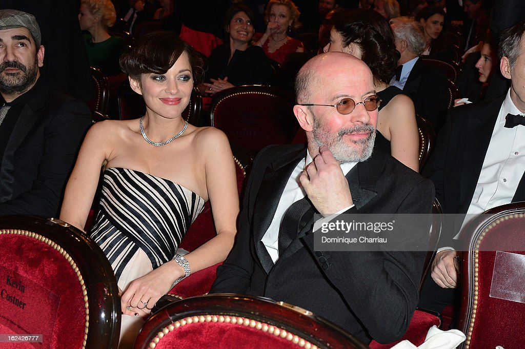 Marion Cotillard and Jacques Audiard attend the Cesar Film Awards 2013 at Theatre du Chatelet on February 22, 2013 in Paris, France.