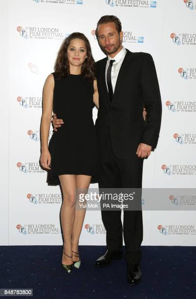 Marion Cotillard and Matthias Schoenaerts arriving for the BFI London Film Festival screening of Rust And Bone at the Odeon West End Leicester Square...