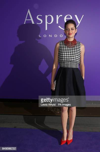 Marion Cotillard arrives at the EE British Academy Film Awards Nominees Party at Asprey central London