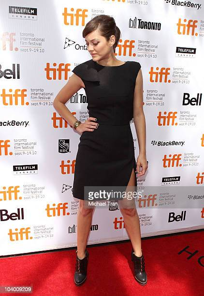 Marion Cotillard arrives at the 'Little White Lies' premiere during the 2010 Toronto International Film Festival held at Roy Thompson Hall on...