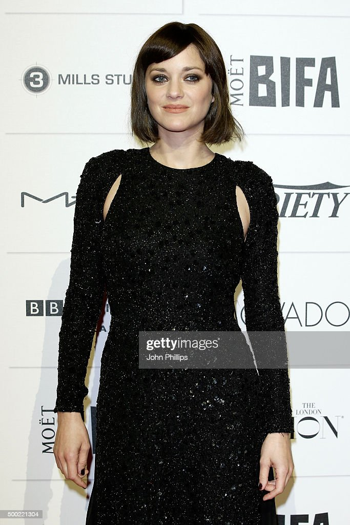 <a gi-track='captionPersonalityLinkClicked' href=/galleries/search?phrase=Marion+Cotillard&family=editorial&specificpeople=215303 ng-click='$event.stopPropagation()'>Marion Cotillard</a> arrives at The Moet British Independent Film Awards 2015 at Old Billingsgate Market on December 6, 2015 in London, England.