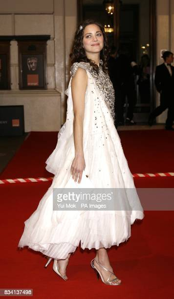 Marion Cotillard arrives for the 2008 Orange British Academy Film Awards at the Royal Opera House in Covent Garden central London