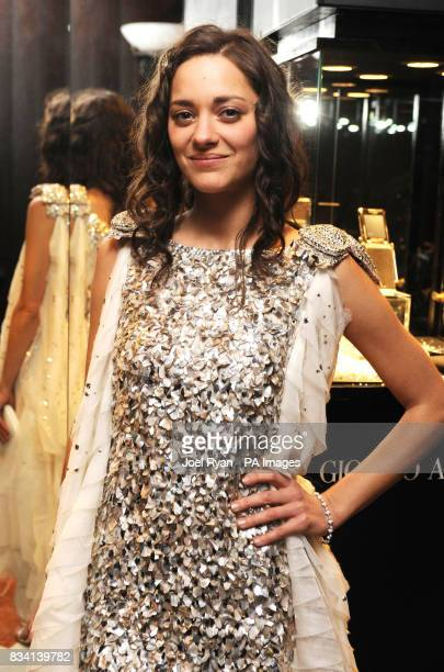 Marion Cotillard arrives for the Miramax postBaftas Party at the Park Lane Hilton London