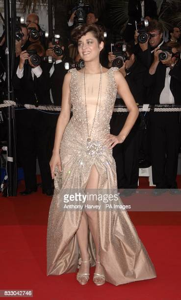 Marion Cotillard arrives for the screening of 'We Own The Night' during the 60th annual Cannes Film Festival in Cannes France Picture date Thursday...
