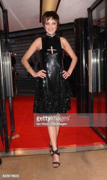 Marion Cotillard arrives for the UK film premiere of La Vie En Rose at the Curzon Mayfair in central London