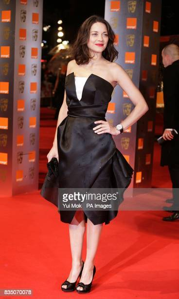 Marion Cotillard arriving for the 2009 British Academy Film Awards at the Royal Opera House in Covent Garden central London