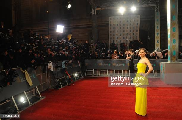 Marion Cotillard arriving for the 2013 British Academy Film Awards at the Royal Opera House Bow Street London