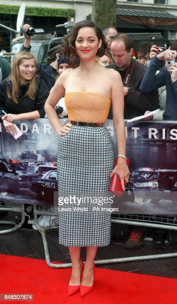 Marion Cotillard at the premiere of the new Batman film The Dark Knight Rises at the Odeon Leicester Square London