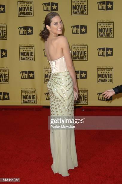 Marion Cotillard attends 2010 Critics Choice Awards at The Palladium on January 15 2010 in Hollywood California