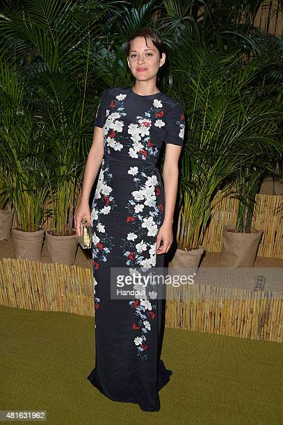 Marion Cotillard attends a Dinner and Auction during The Leonardo DiCaprio Foundation 2nd Annual SaintTropez Gala at Domaine Bertaud Belieu on July...