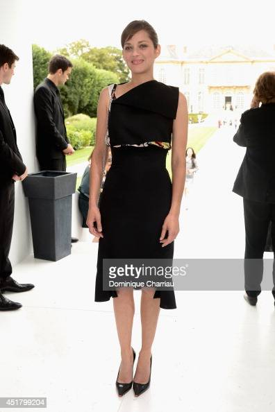 Marion Cotillard attends at the Christian Dior show as part of Paris Fashion Week Haute Couture Fall/Winter 20142015 at on July 7 2014 in Paris France