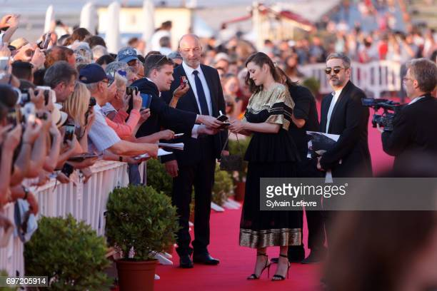 Marion Cotillard attends closing ceremony red carpet of 31st Cabourg Film Festival on June 17 2017 in Cabourg France