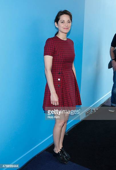 Marion Cotillard attends 'Ice Sky' Climate Change Program Launch Event hosted by Luc Jacquet and Marion Cotillard at FIAF on June 11 2015 in New York...