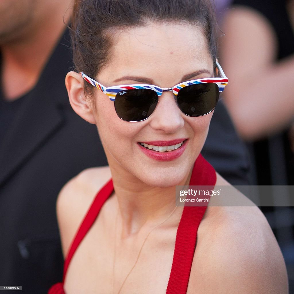 Marion Cotillard attends 'Le Grand Journal' Show on Canal Plus at the Majestic Beach of Cannes on May 18, 2010 in Cannes, France.