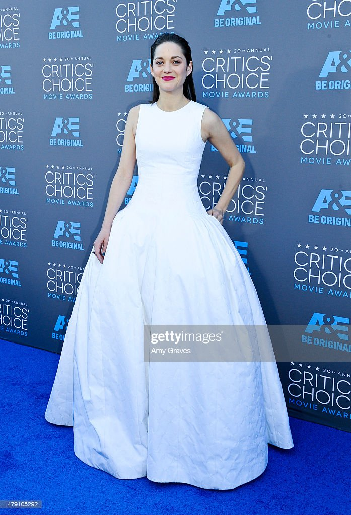 <a gi-track='captionPersonalityLinkClicked' href=/galleries/search?phrase=Marion+Cotillard&family=editorial&specificpeople=215303 ng-click='$event.stopPropagation()'>Marion Cotillard</a> attends the 20th Annual Critics' Choice Movie Awards on January 15, 2015 in Los Angeles, California.