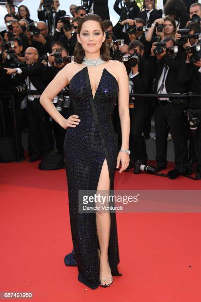 Marion Cotillard attends the 70th Anniversary screening during the 70th annual Cannes Film Festival at Palais des Festivals on May 23 2017 in Cannes...