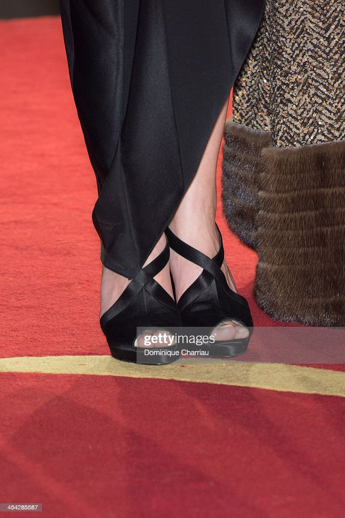 Marion Cotillard (shoe detail)attends the award Ceremony 2013' At 13th Marrakech International Film Festival on December 7, 2013 in Marrakech, Morocco.