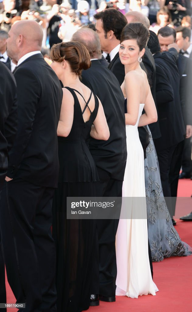 <a gi-track='captionPersonalityLinkClicked' href=/galleries/search?phrase=Marion+Cotillard&family=editorial&specificpeople=215303 ng-click='$event.stopPropagation()'>Marion Cotillard</a> attends the 'Blood Ties' Premiere during the 66th Annual Cannes Film Festival at Grand Theatre Lumiere on May 20, 2013 in Cannes, France.