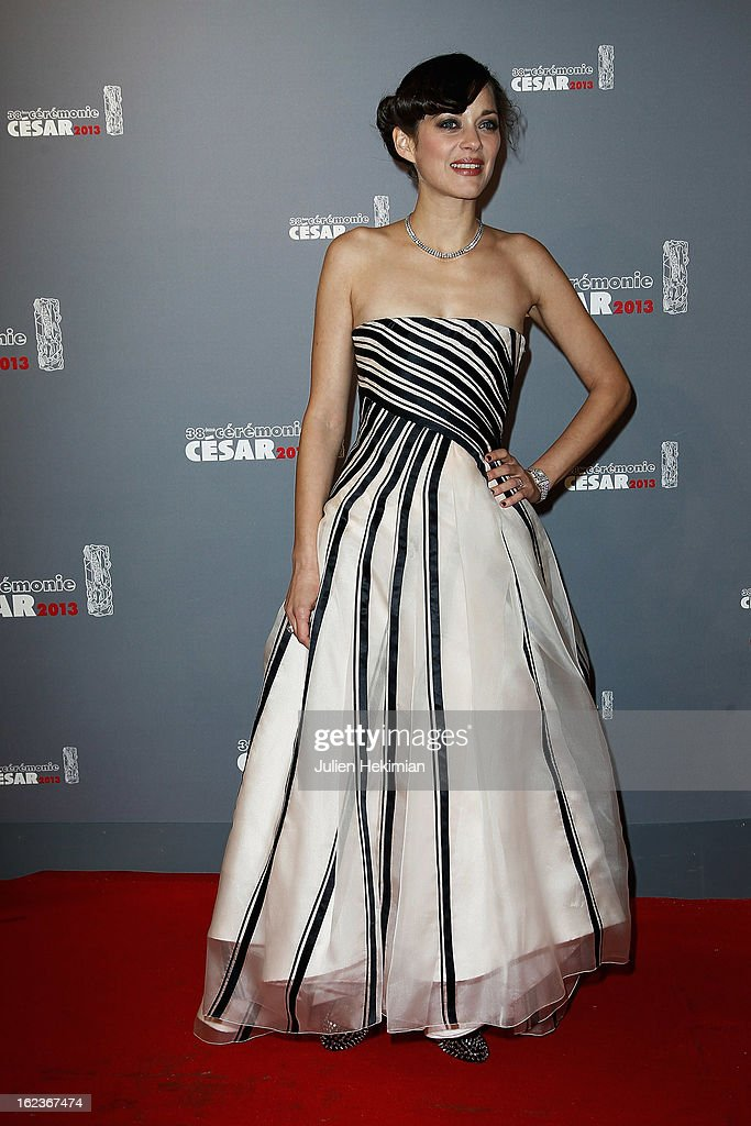 <a gi-track='captionPersonalityLinkClicked' href=/galleries/search?phrase=Marion+Cotillard&family=editorial&specificpeople=215303 ng-click='$event.stopPropagation()'>Marion Cotillard</a> attends the Cesar Film Awards 2013 at Theatre du Chatelet on February 22, 2013 in Paris, France.
