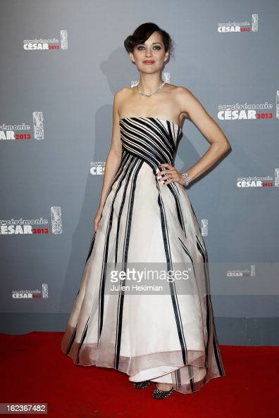 Marion Cotillard attends the Cesar Film Awards 2013 at Theatre du Chatelet on February 22 2013 in Paris France