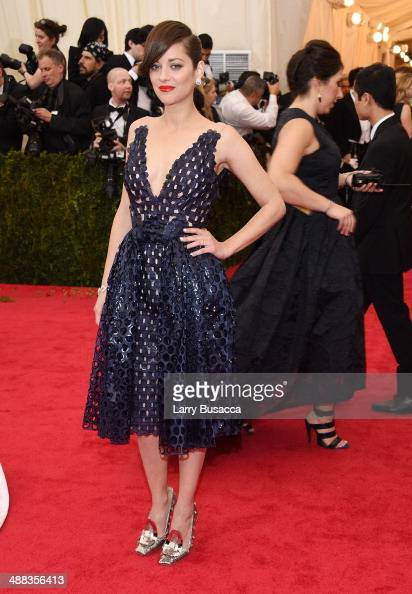 Marion Cotillard attends the 'Charles James Beyond Fashion' Costume Institute Gala at the Metropolitan Museum of Art on May 5 2014 in New York City