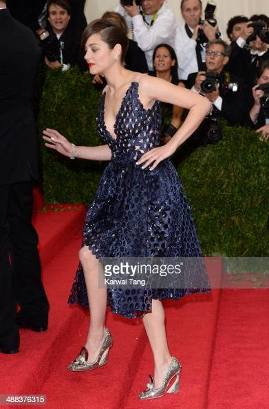 Marion Cotillard attends the 'Charles James Beyond Fashion' Costume Institute Gala held at the Metropolitan Museum of Art on May 5 2014 in New York...
