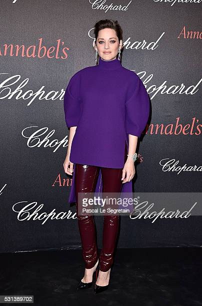 Marion Cotillard attends the Chopard Gent's Party at Annabel's in Cannes during the 69th Cannes Film Festival on May 14 2016 in Cannes France