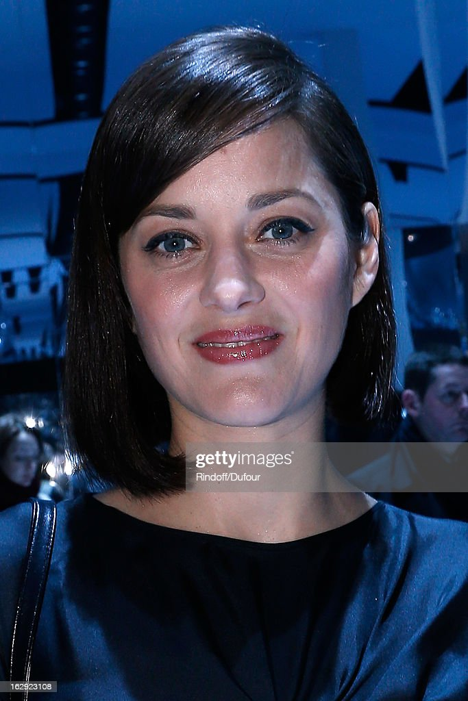Marion Cotillard attends the Christian Dior Fall/Winter 2013 Ready-to-Wear show as part of Paris Fashion Week on March 1, 2013 in Paris, France.