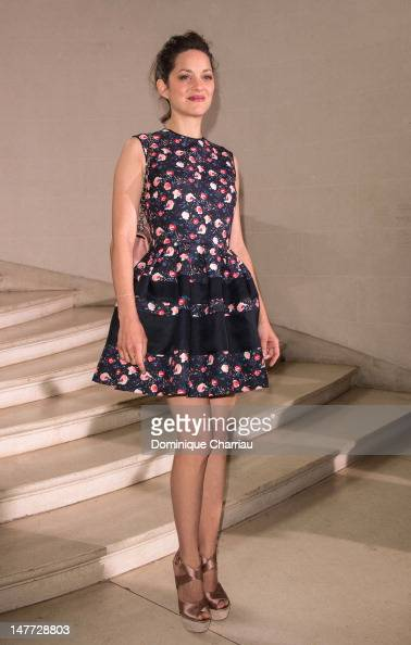 Marion Cotillard attends the Christian Dior HauteCouture Show as part of Paris Fashion Week Fall / Winter 2013 on July 2 2012 in Paris France