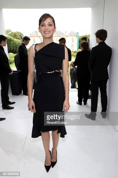 Marion Cotillard attends the Christian Dior show as part of Paris Fashion Week Haute Couture Fall/Winter 20142015 at Muse Rodin on July 7 2014 in...