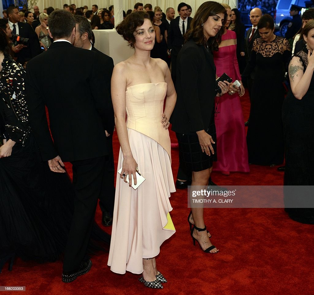 Marion Cotillard attends the Costume Institute Benefit at The Metropolitan Museum of Art May 6, 2013, celebrating the opening of Punk: Chaos to Couture.