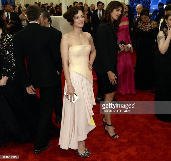 Marion Cotillard attends the Costume Institute Benefit at The Metropolitan Museum of Art May 6 celebrating the opening of Punk Chaos to Couture AFP...