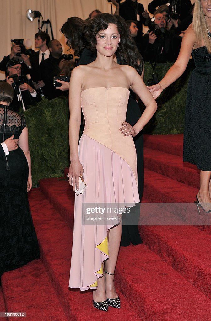 Marion Cotillard attends the Costume Institute Gala for the 'PUNK: Chaos to Couture' exhibition at the Metropolitan Museum of Art on May 6, 2013 in New York City.