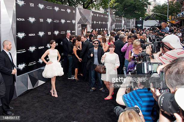 Marion Cotillard attends 'The Dark Knight Rises' world premiere at AMC Lincoln Square Theater on July 16 2012 in New York City
