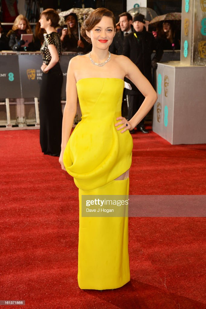 <a gi-track='captionPersonalityLinkClicked' href=/galleries/search?phrase=Marion+Cotillard&family=editorial&specificpeople=215303 ng-click='$event.stopPropagation()'>Marion Cotillard</a> attends The EE British Academy Film Awards 2013 at The Royal Opera House on February 10, 2013 in London, England.
