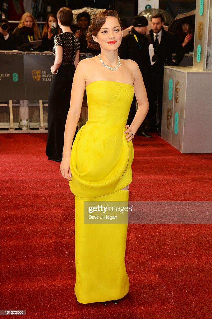 Marion Cotillard attends The EE British Academy Film Awards 2013 at The Royal Opera House on February 10, 2013 in London, England.