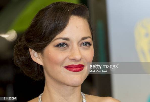 Marion Cotillard attends the EE British Academy Film Awards at The Royal Opera House on February 10 2013 in London England