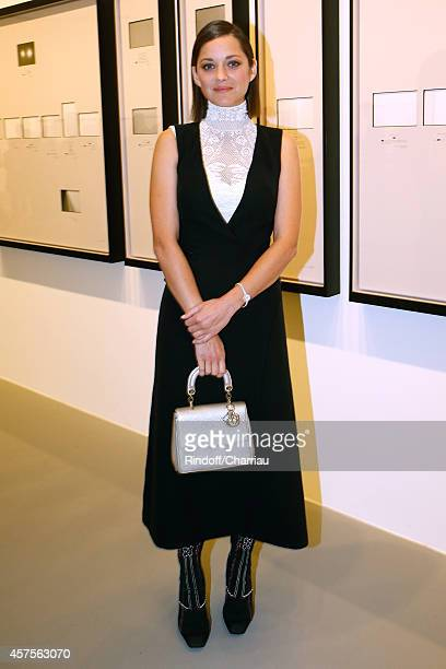 Marion Cotillard attends the Foundation Louis Vuitton Opening at Foundation Louis Vuitton on October 20 2014 in BoulogneBillancourt France